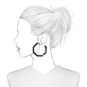 BaubleBar Jewelry - SUGARFIX by BaubleBar Geometric Tortoise Earrings